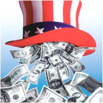 UNCLE SAM IS MADE OF MONEY