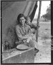 DOROTHEA LANGE'S MIGRANT MOTHER 1936