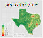 Population per square mile